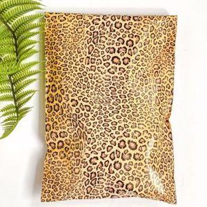 50 leopard designer 6x9 poly mailers